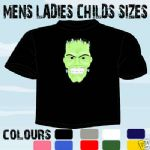 FRANKENSTEIN GOTH T-SHIRT ALL SIZES & COLOURS